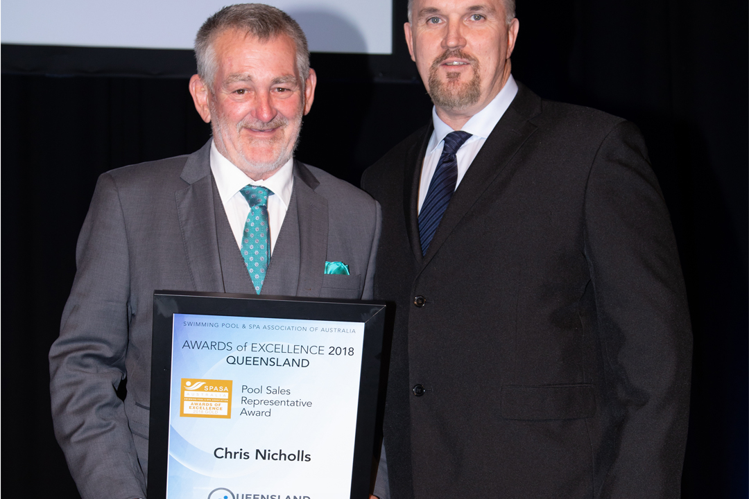 Pool Sales Representative Award (Chris Nicholls) – Gold